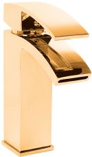 DoratO Minimo Mono Basin Mixer Tap in 24ct Gold